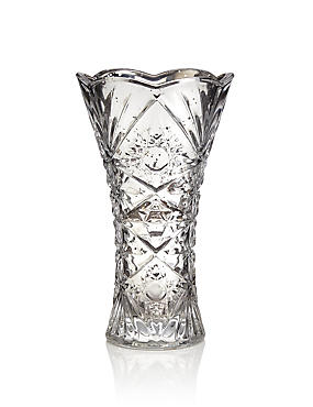 Flared Cut Glass Vase