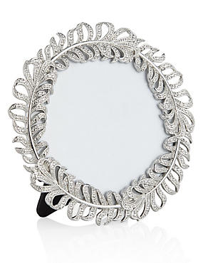 Feather Round Photo Frame