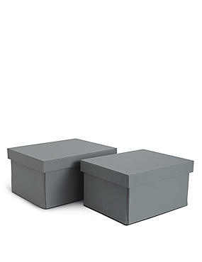 Faux Leather Set Of 2 Boxes