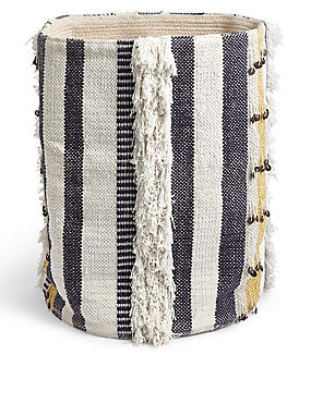Sequin Braided Storage Basket
