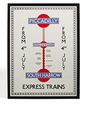 TFL Piccadilly Express Trains Wall Art