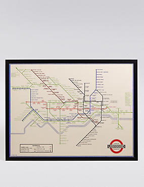 TFL London Underground Map Wall Art