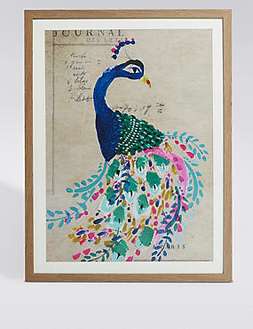 Painted Peacock Wall Art
