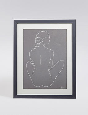 Nude Legs Crossed Wall Art