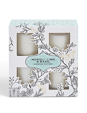 Neroli, Lime & Basil Set of 4 Votives