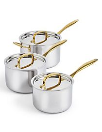 Chef Tri Ply 3 Piece Saucepan Set