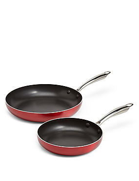 Metallic Effect 2 Pack Fry Pan
