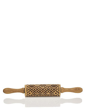 Oak Pattern Rolling Pin
