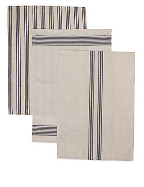 3 Assorted Striped Tea Towels