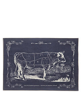 Butchers Print Tea Towel