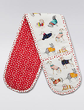 Animal Print Double Oven Gloves