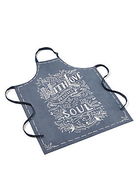 Pure Cotton Cooking With Love Apron