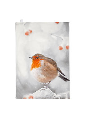Tea Towel Robin