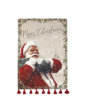 Pure Cotton Santa Tea Towel