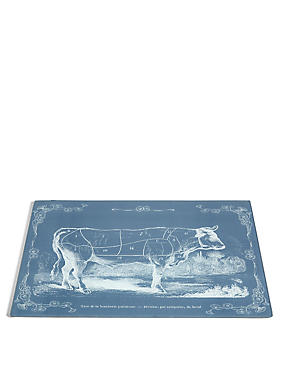 Butchers Print Glass Work Top Saver