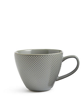Textured Dot Green Mug