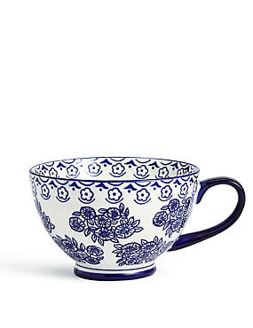 Saloon Footed Blue Mug