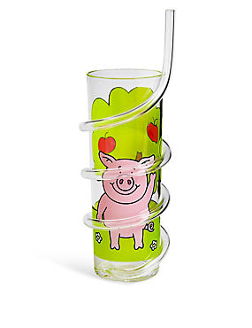 Percy Pig Curly Straw