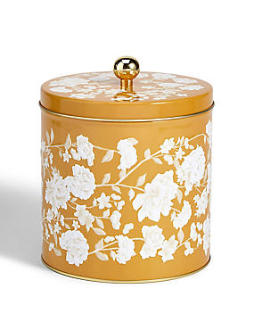 Trailing Floral Biscuit Tin