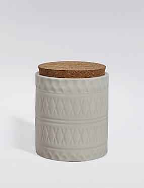 Small Embossed Storage Jar