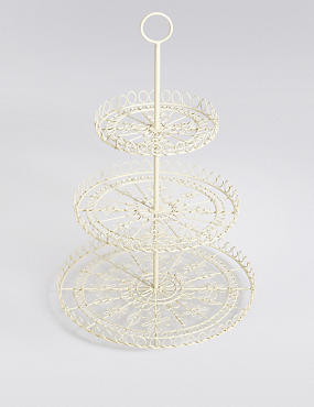 Wire 3 Tier Cake Stand