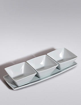 3 Pack Maxim Dip Bowl with Platter