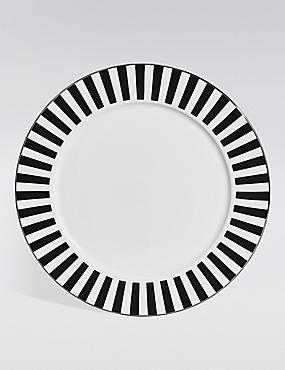 Sue Timney Stripe Dinner Plate