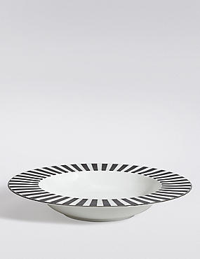 Sue Timney Stripe Pasta Bowl