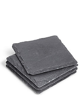 Slate Square Set of 4 Coasters