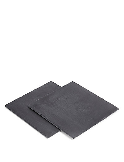 Slate Square Set Of 2 Placemats  M&S