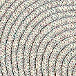 Set of 4 Round Woven Placemats, METALLIC, swatch