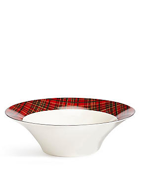 Noel Tartan Serving Bowl