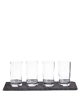 Slate Platter & Serving Glasses