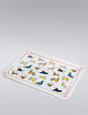 Illustrated Multi Dog Print Tray
