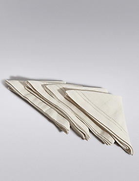 4 Pack Hemstitch Napkins