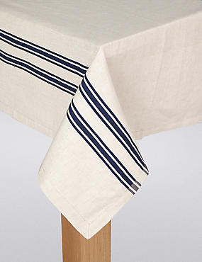 Artisan Striped Tablecloth