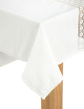 Lace Border Table Cloth