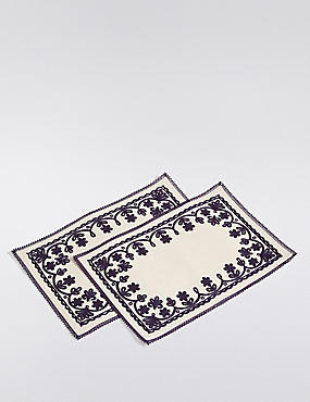 2 Pack Rosalie Embroidered Placemats
