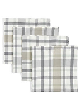 Check Woven Napkins 4 Pack