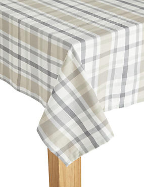 Check Woven Tablecloth