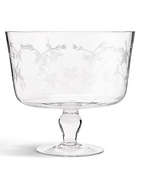 Botanical Etched Trifle Bowl