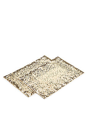 2 Pack Sequin Embroidered Placemat