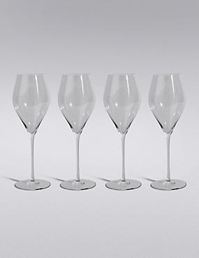 4 Grace White Wine Glasses