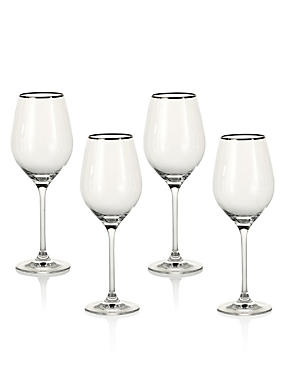 4 Pack Maxim Platinum White Wine Glasses
