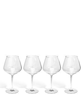 Sommelier 4 Pack Large Red Wine Glasses