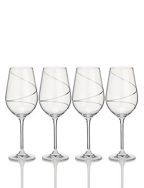 4 Pack Swirl Red Wine Glasses