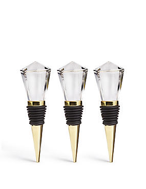 Hollywood 3 Pack Diamond Bottle Stoppers