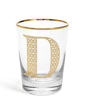 Alphabet Glass D