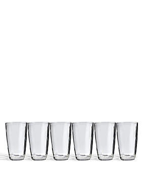 Contour 6 Pack Hi Ball Glasses