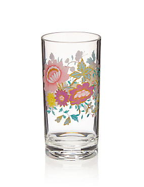 Plastic Spring Blooms Floral Picnic Hi Ball Glass